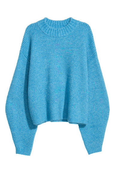 Knitted jumper - Light blue marl - Ladies | H&M CN