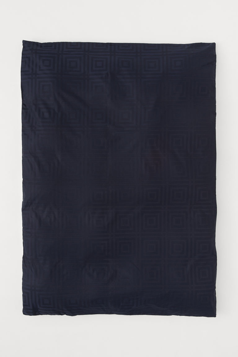 Copripiumino cotone jacquard - Blu scuro - HOME | H&M IT