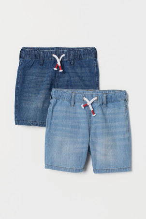 Shorts in denim, 2 pz