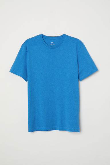 T-shirt Regular fit - Bleu chiné - HOMME | H&M CH