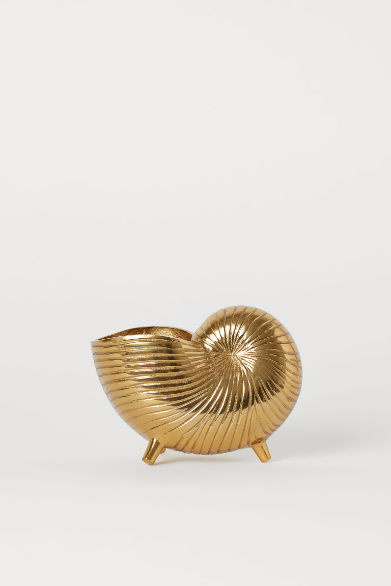 Shell-shaped Plant Pot - Gold-colored -  | H&M US