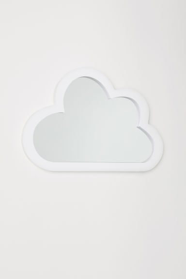 Cloud-shaped mirror - White - Home All | H&M IE