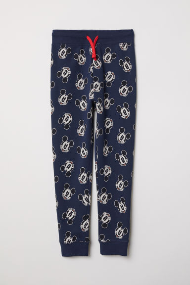 Printed sweatpants - Dark blue/Mickey Mouse - Kids | H&M