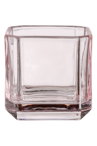 Glass tealight holder - Pink - Home All | H&M GB
