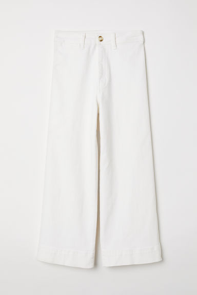 Kick-flare trousers - Natural white -  | H&M
