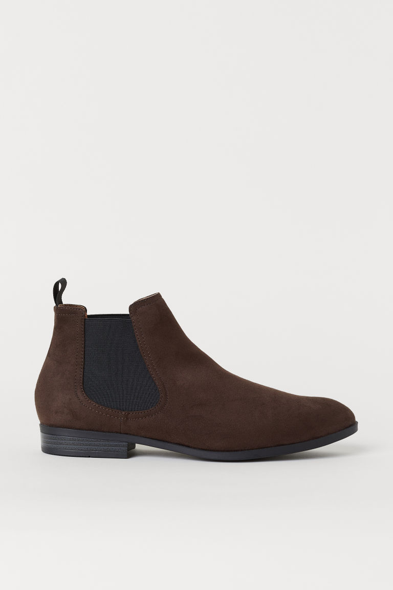 Chelsea-style Boots - Dark brown - Men | H&M US