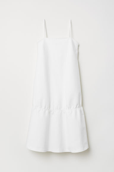 Flounced dress - White - Ladies | H&M CN