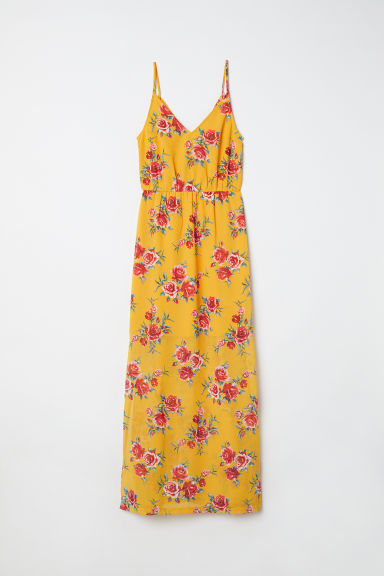 Maxi dress - Yellow/Floral - Ladies | H&M CN