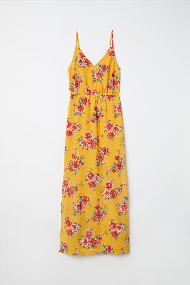 c916572e925de Maxi dress - Yellow/Floral - Ladies | H&M ...
