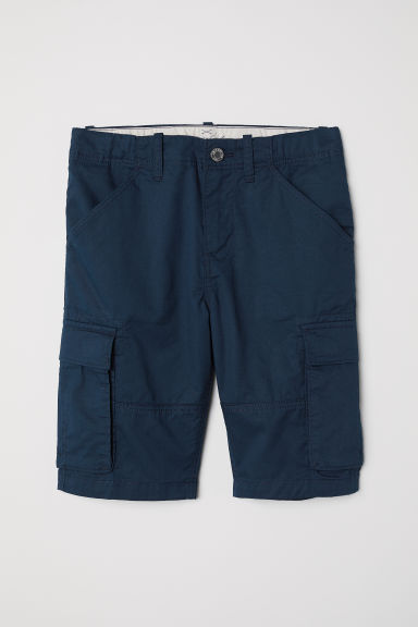 Knee-length cargo shorts - Dark blue -  | H&M CN