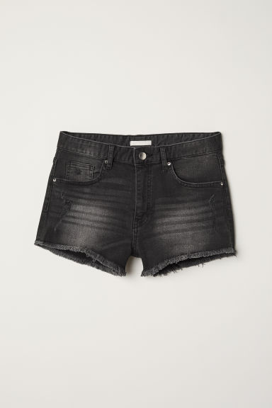 Jeansshorts - Dunkelgrau - Ladies | H&M AT