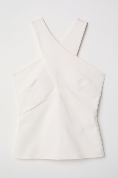 Wrapover top - Natural white - Ladies | H&M CN