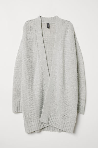 Knitted cardigan - Light grey -  | H&M