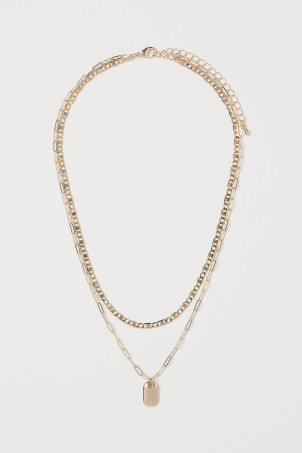 Two-strand pendant necklaceModel