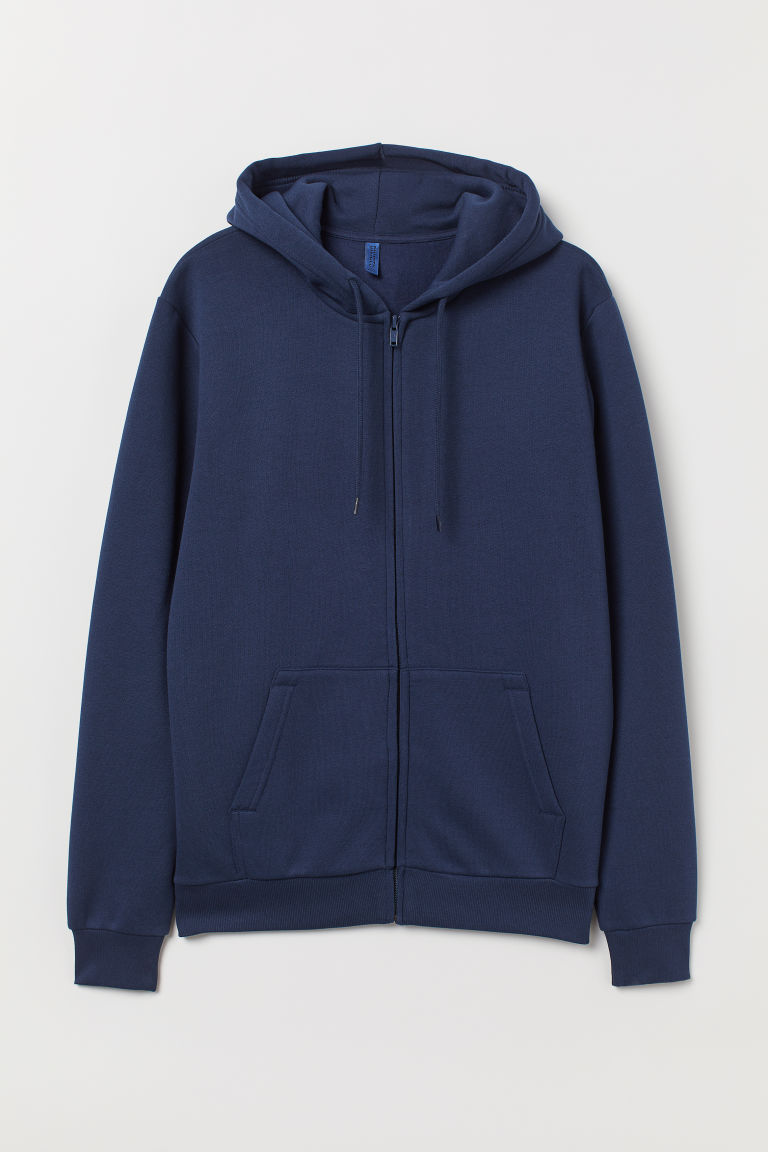 Hooded jacket - Dark blue - Men | H&M CN