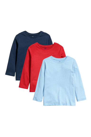 Lot de 3 tops en jersey - Bleu clair -  | H&M BE