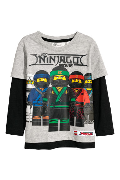 Jersey top - Light grey/Ninjago - Kids | H&M