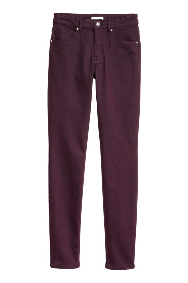 Pantalon super stretch - Prune -  | H&M BE