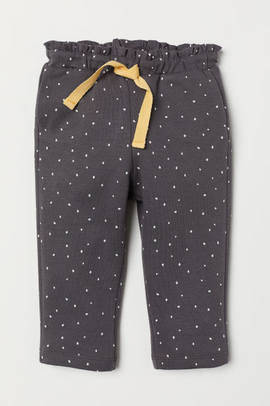 Patterned trousers - Dark grey/Spotted - Kids | H&M