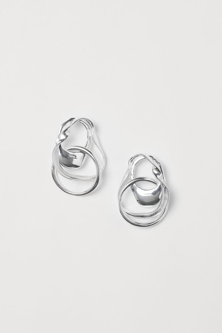 Silver-plated earrings - Silver-coloured - Ladies | H&M GB