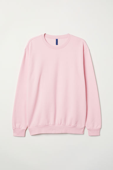 Oversized sweatshirt - Light pink - Men | H&M CN