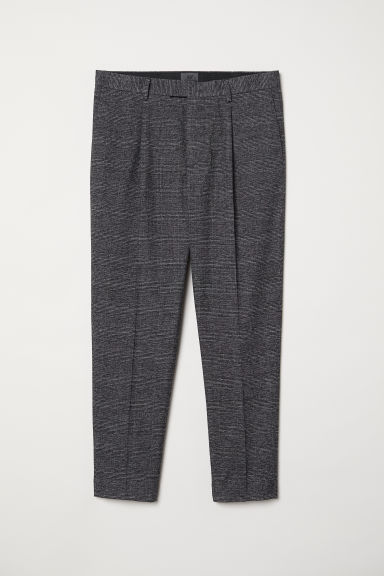 Checked suit trousers - Grey/Checked - Men | H&M