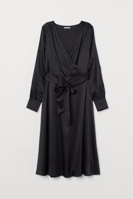 56bba90f03 Sukienka z domieszką jedwabiu