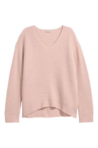 Knitted cashmere jumper - Powder pink -  | H&M