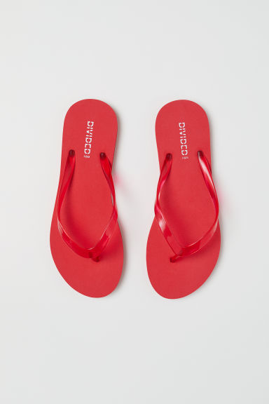 Flip-flops - Bright red -  | H&M