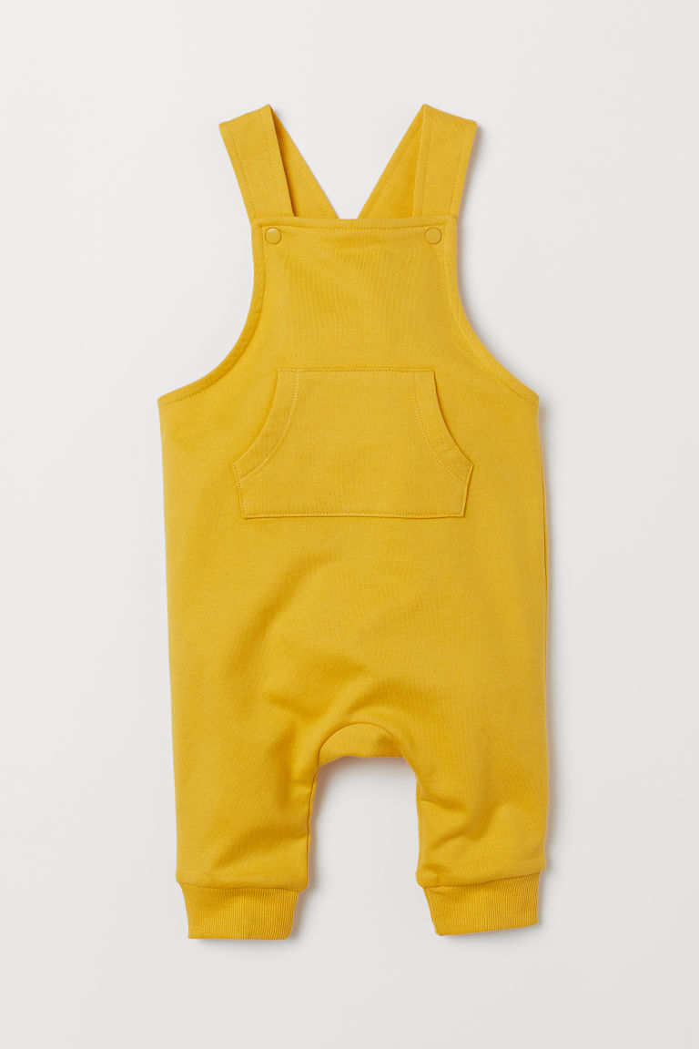 Cotton dungarees - Yellow - Kids | H&M IE