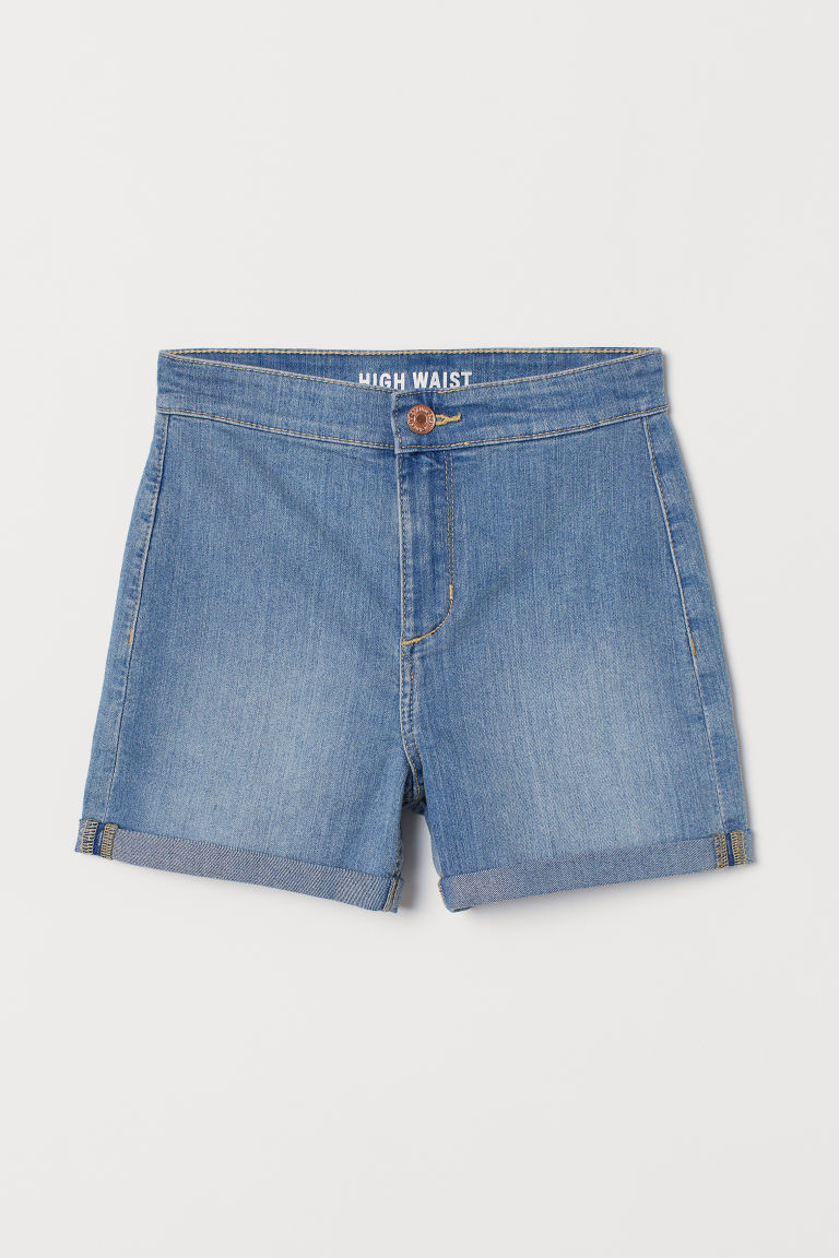 Short en jean High - Bleu denim - ENFANT | H&M FR