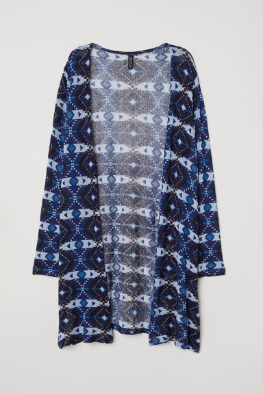 Patterned cardigan - Dark blue/Patterned -  | H&M CN