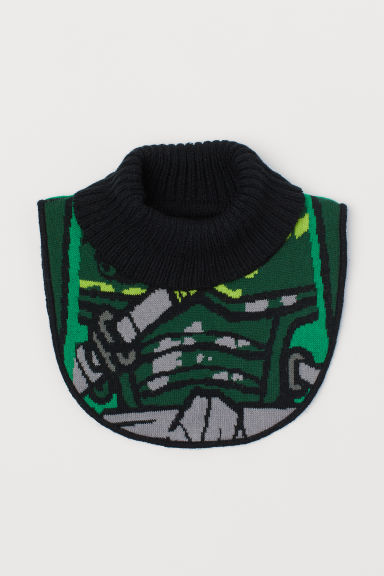 Jacquard-knit polo-neck collar - Green/LEGO - Kids | H&M CN