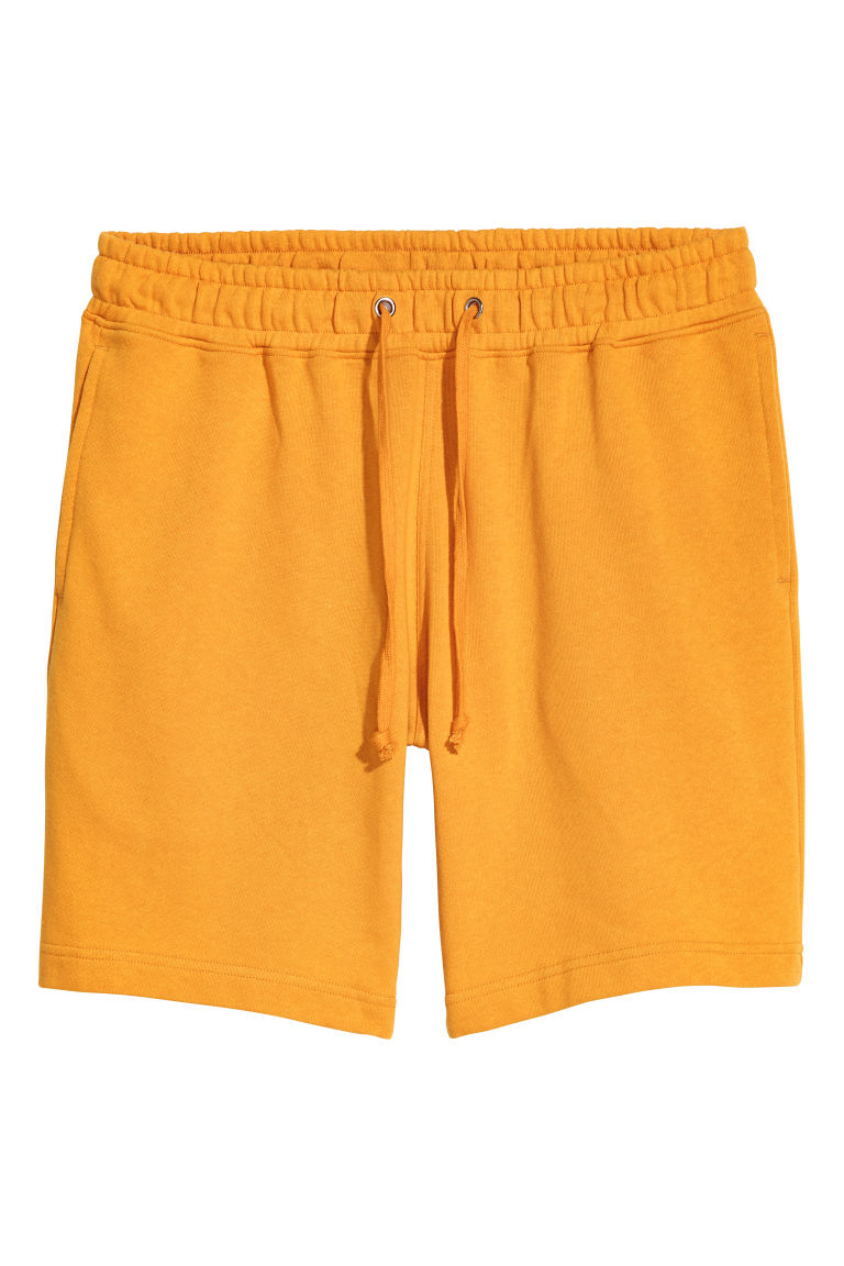 Sweatshirt shorts - Yellow - Men | H&M