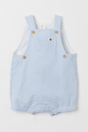 Seersucker dungaree shorts