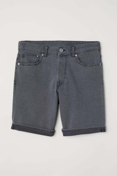 Denim shorts Slim fit - Dark grey - Men | H&M