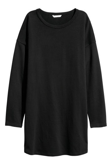 Long-sleeved jersey dress - Black - Ladies | H&M