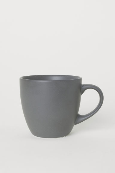 Small porcelain mug - Dark grey - Home All | H&M CN