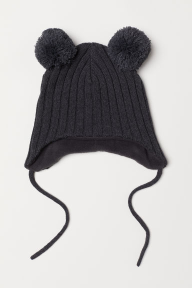 Knitted hat - Dark grey marl - Kids | H&M