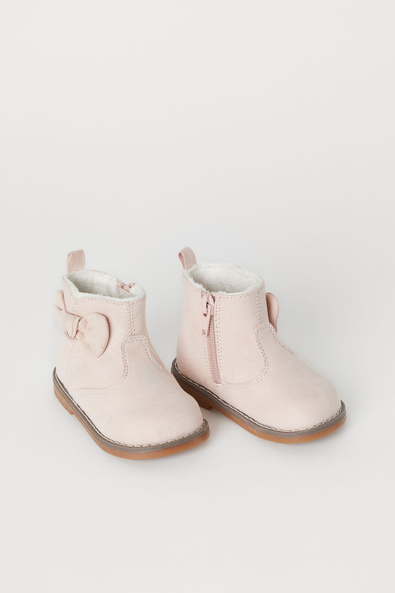 Warm-lined boots - Powder pink - Kids | H&M GB