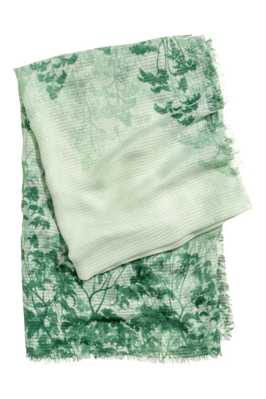 Large scarf - Green -  | H&M