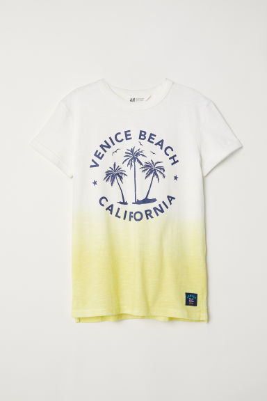 Printed T-shirt - Yellow/Dip Dye -  | H&M CN