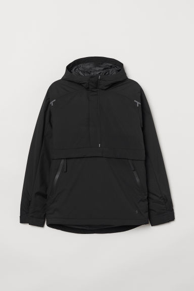 Padded anorak with a hood - Black - Men | H&M CN