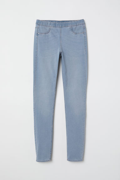 Denim leggings - Light denim blue -  | H&M CN