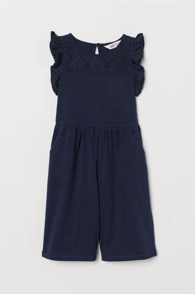 497aa92fd641 ... Jumpsuit with Lace - Dark blue - Kids