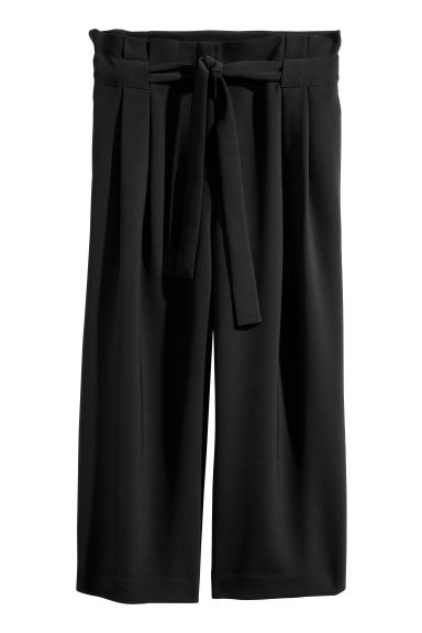 H&M+ Wide trousers - Black - Ladies | H&M CN