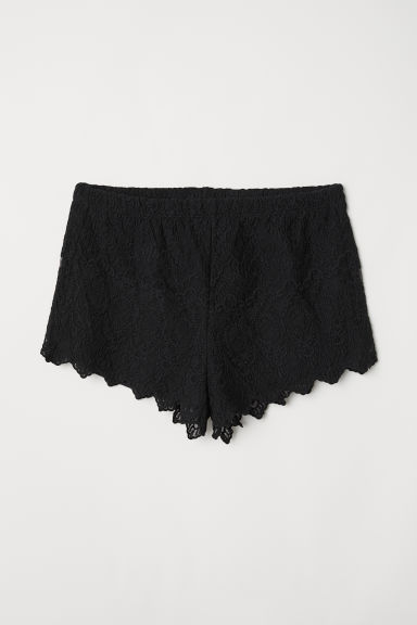Kanten short - Zwart - DAMES | H&M BE