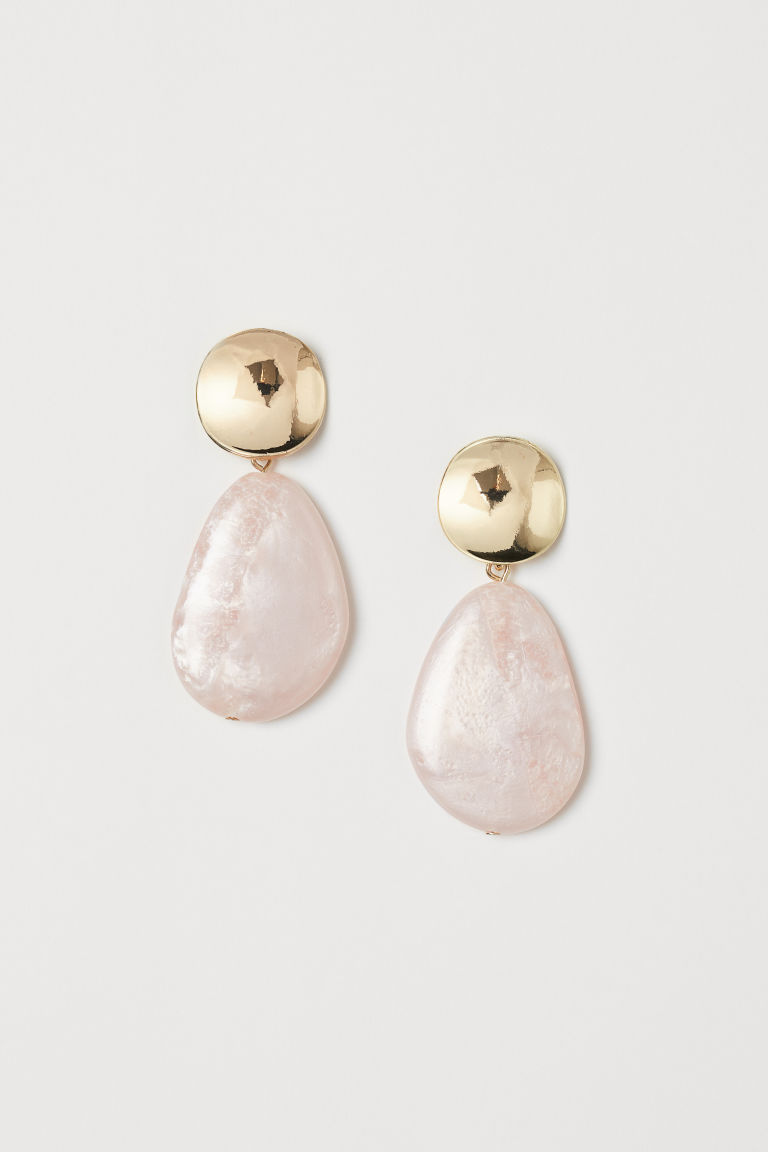 Large earrings - Light pink/Gold-coloured - Ladies | H&M IE