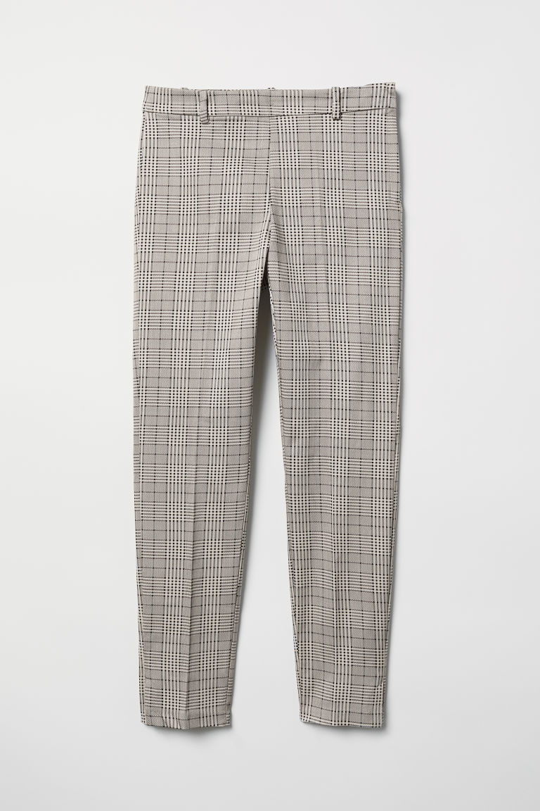 Slacks - Hellbeige/Kariert - Ladies | H&M DE