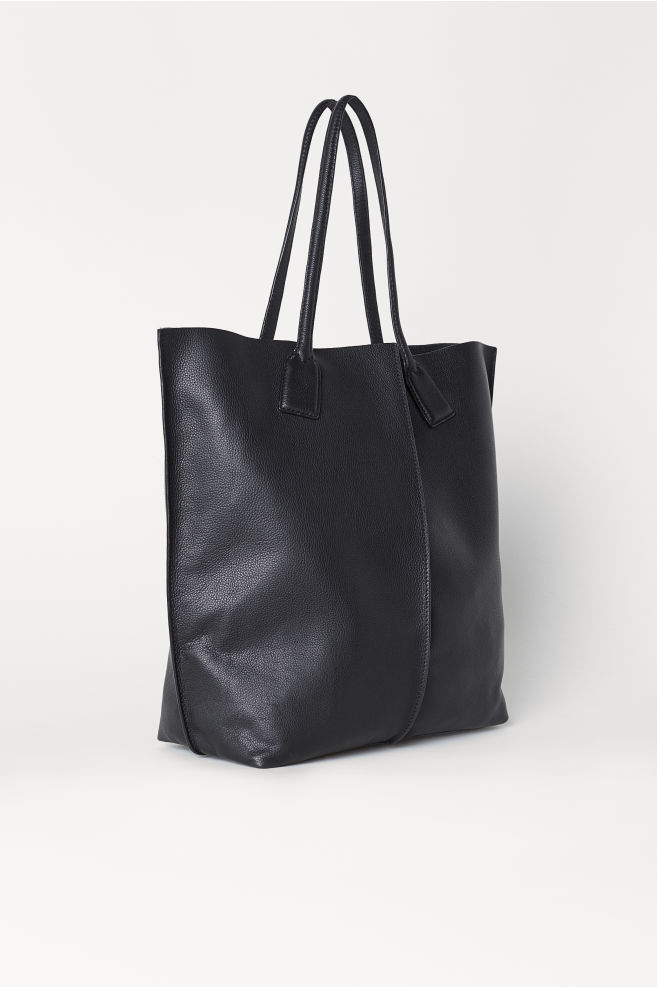 Leather Shopper - Black - Ladies  33ca1d0de9299